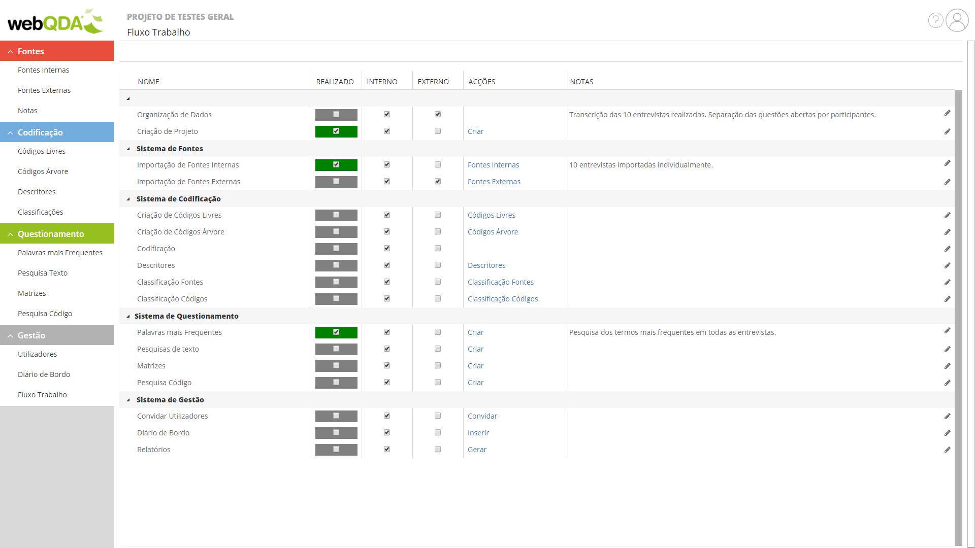 webQDA Workflow